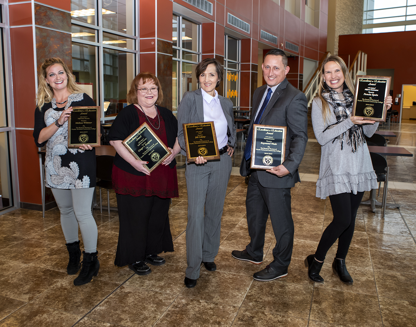 the winners of the 2018-2019 Excellence in Education awards