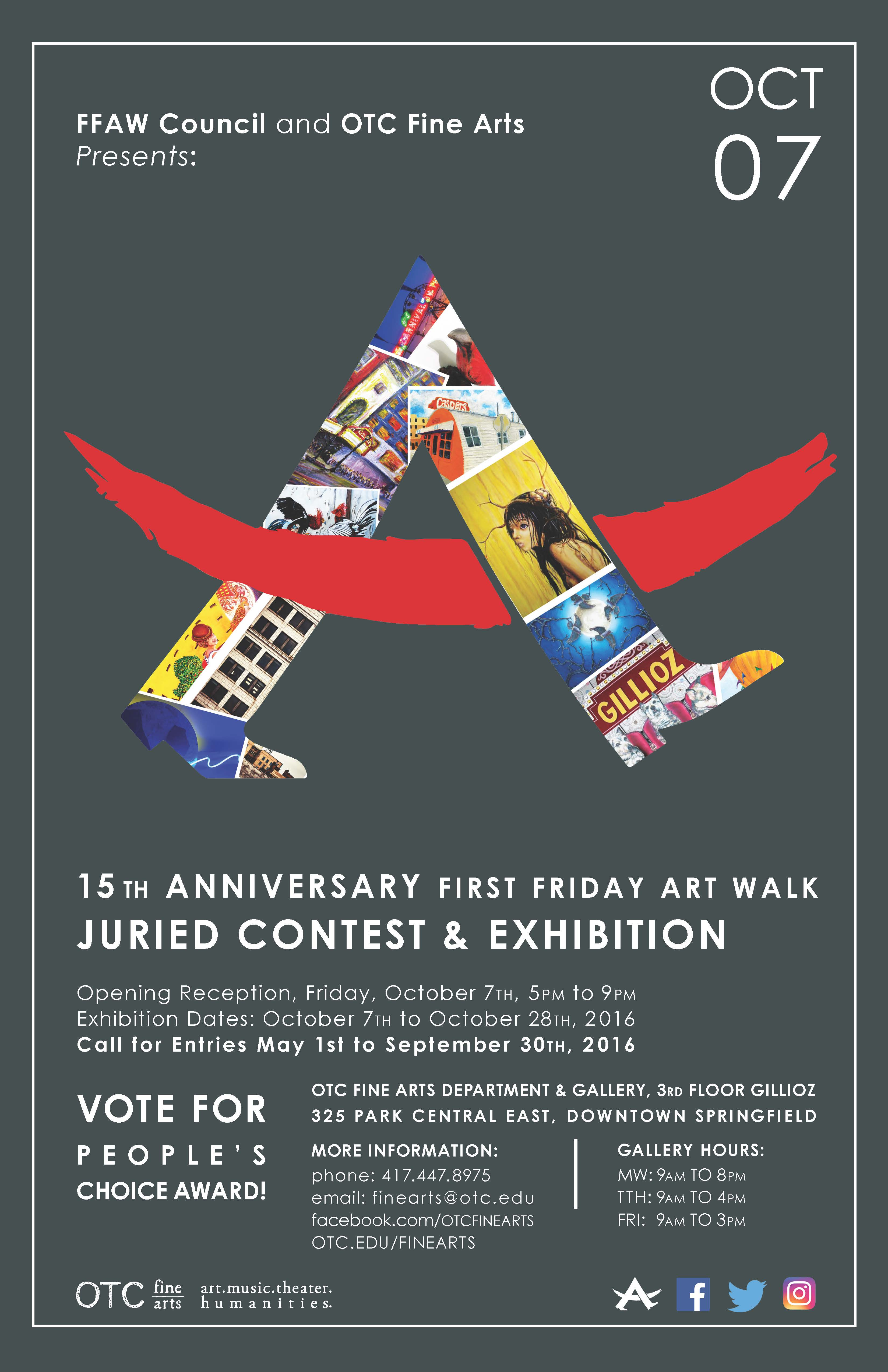 October First Friday Art Walk. 15th Annual Juried competition.