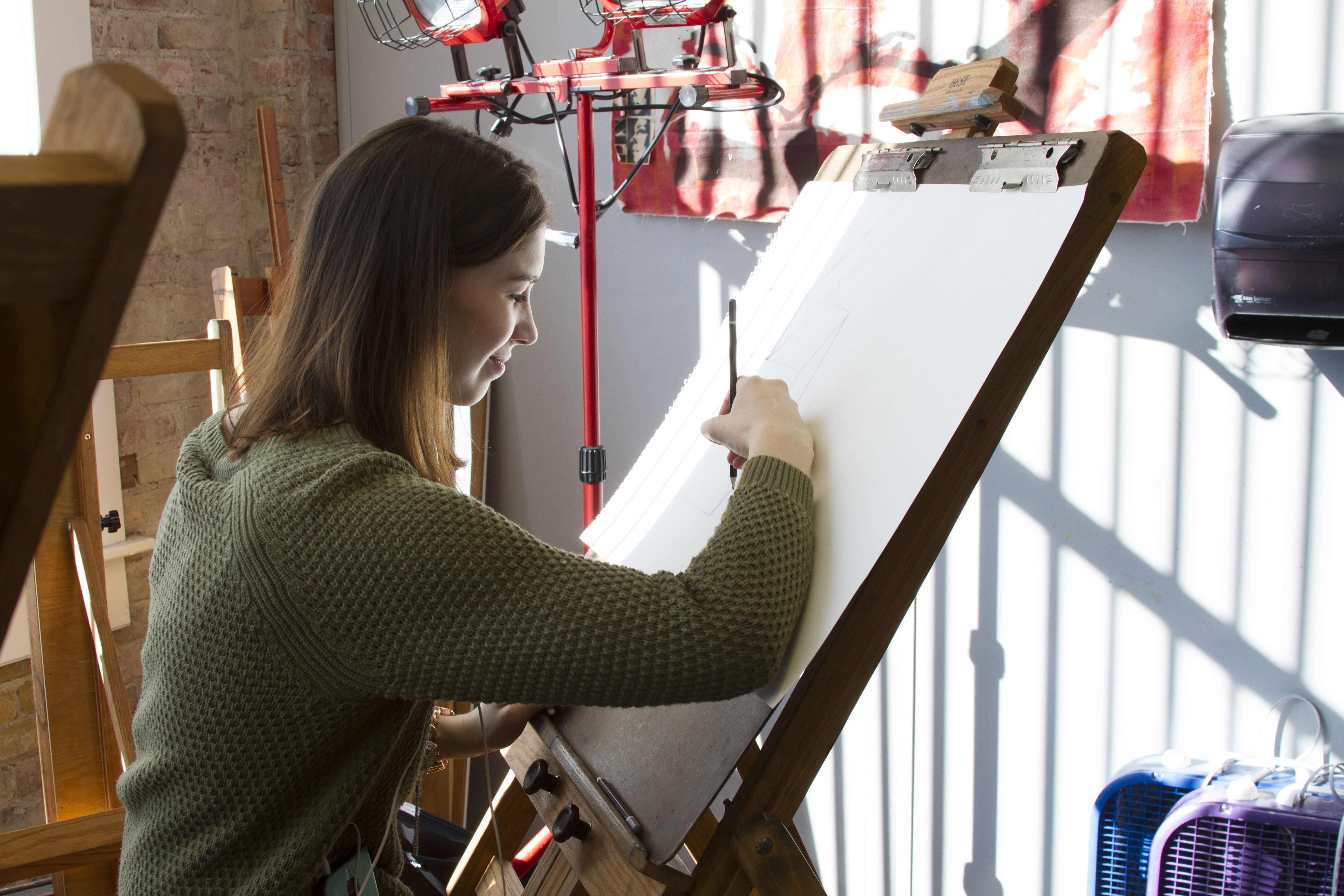 A Drawing Student