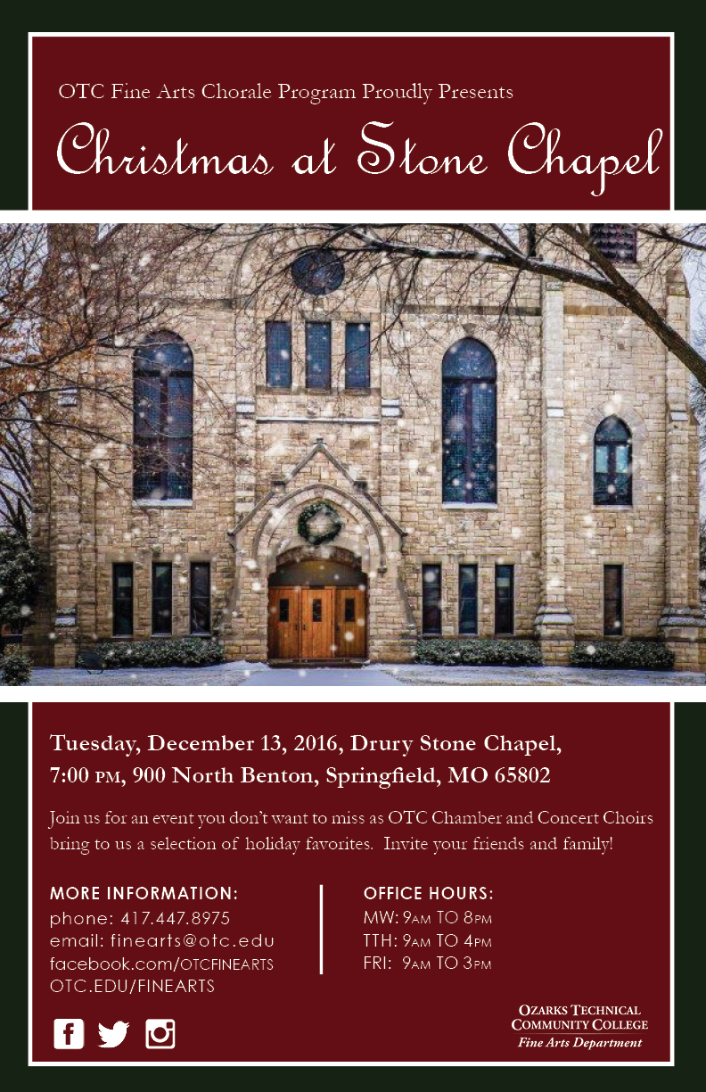 Christmas at Stone Chapel, an OTC Fine Arts production