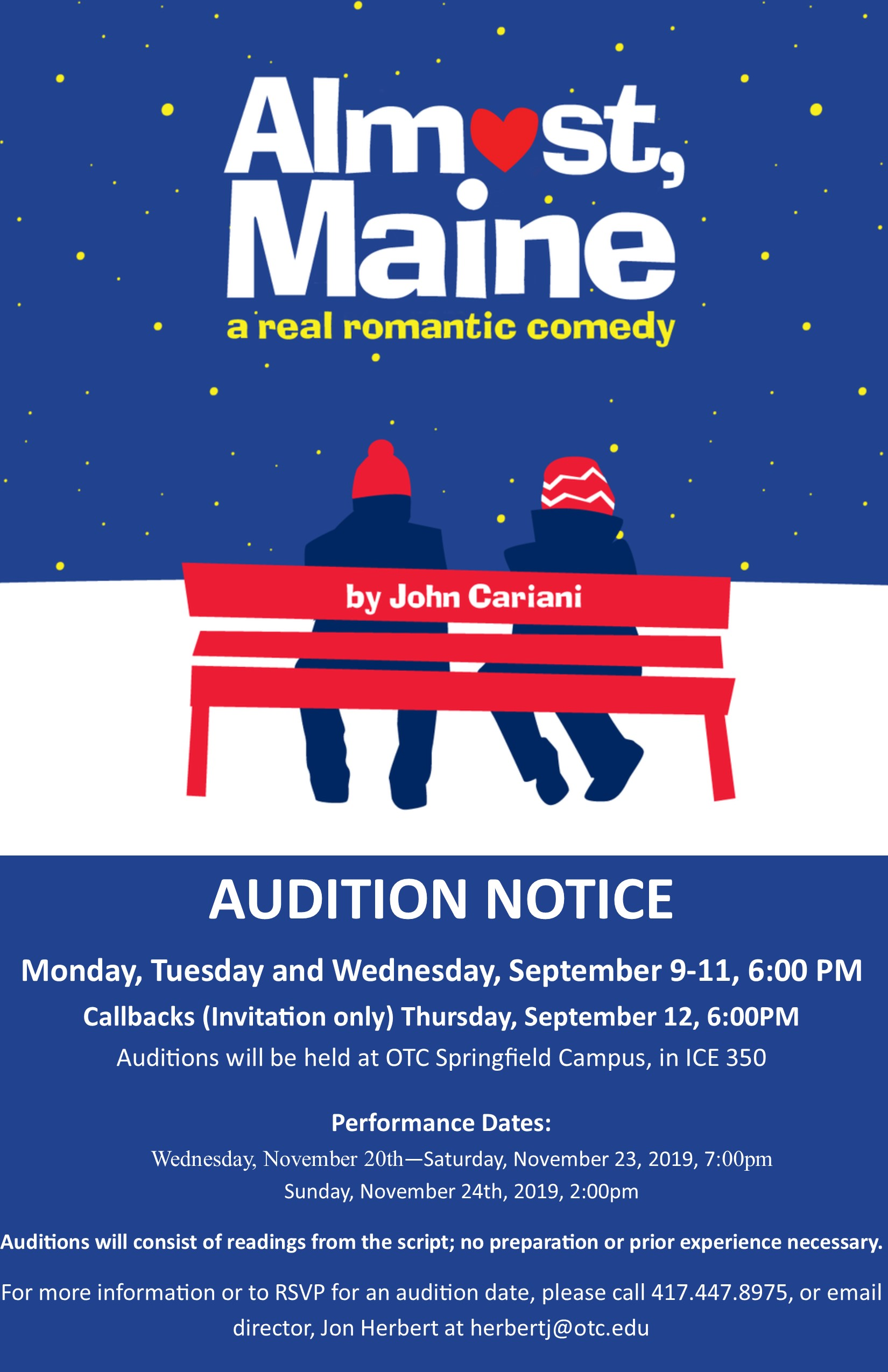 Almost Maine Audition Poster