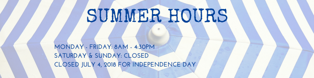 Both libraries are open Monday - Friday, 8am-4:30 am. Both libraries are closed Saturdays, Sundays and the 4th of July.