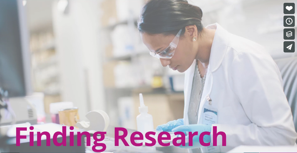 Finding research using CINAHL