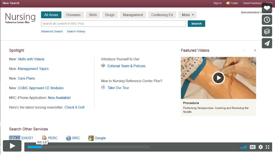 Using Nursing Reference Center Plus video