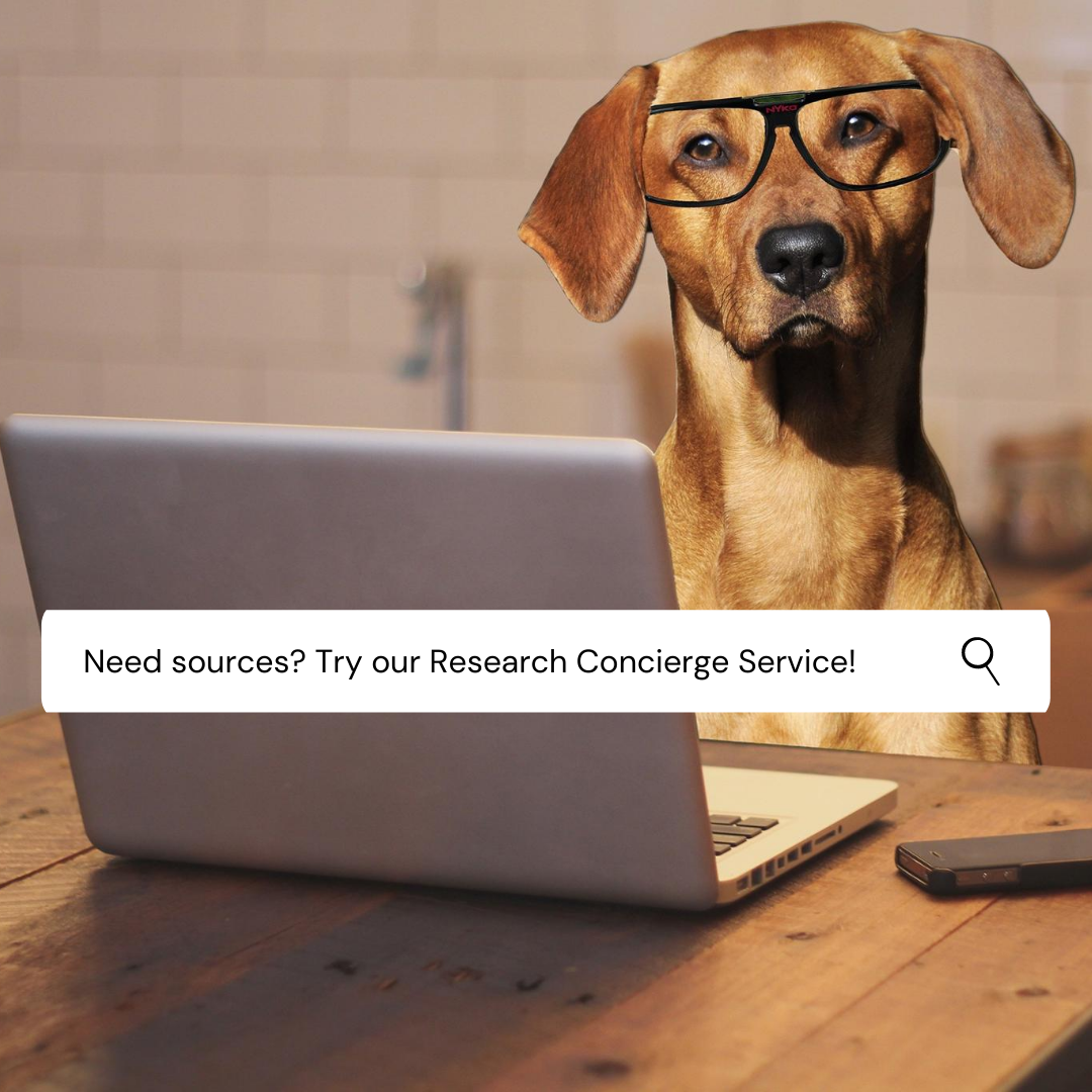 Try our new Research Concierge Service!